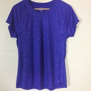 Champion XL purple semi-fitted t-shirt patterned